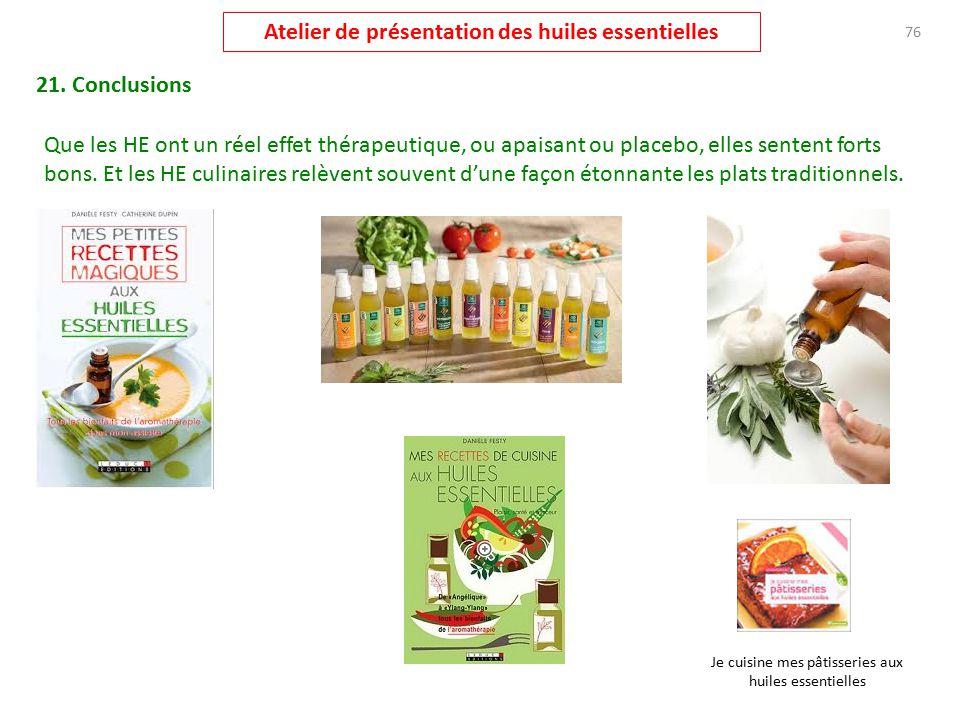 recettes de cuisine aux huiles essentielles