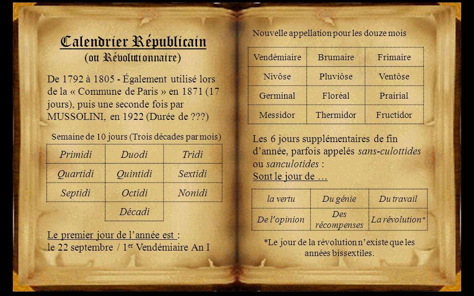 Le Calendrier Revolutionnaire.L Evolution Du Calendrier Ppt Video Online Telecharger