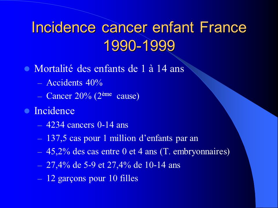 cancer enfant igr