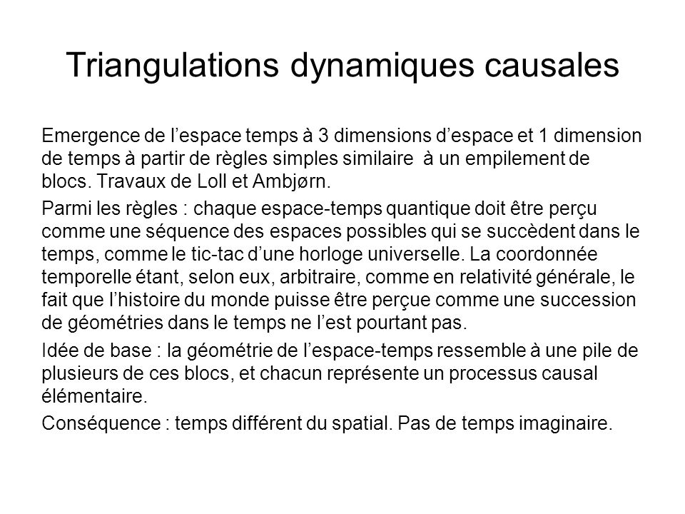 Triangulations dynamiques causales