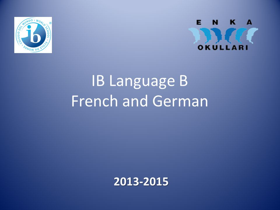 IB Language B French and German