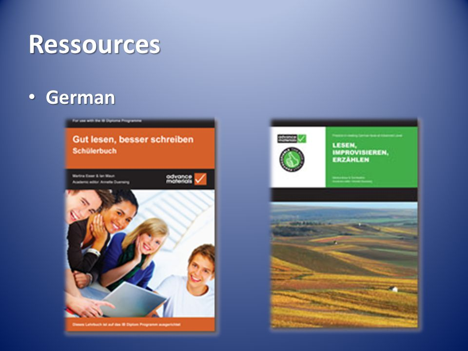 Ressources German