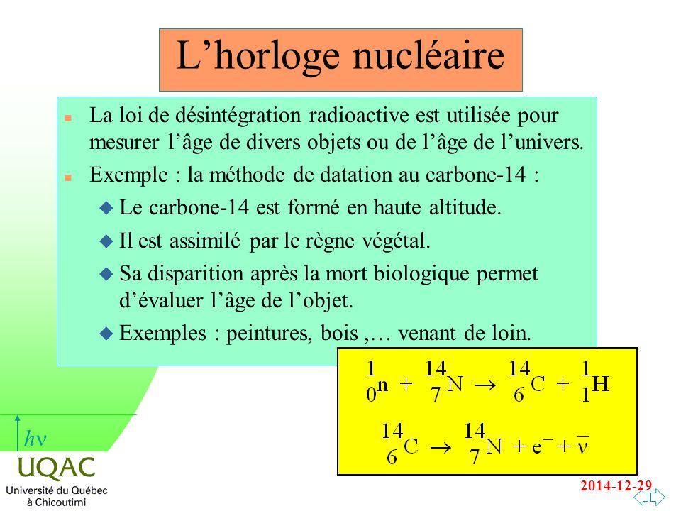 Expliquer le processus naturel sur lequel la datation radioactive est basée