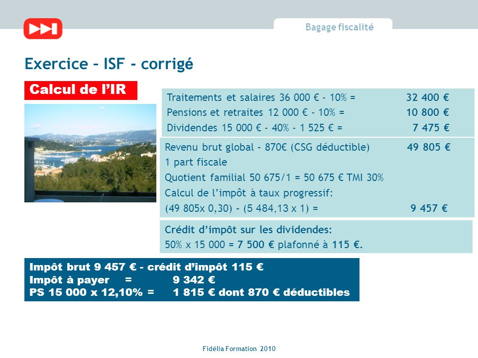 Fiscalite Exercices Corriges Ppt Video Online Telecharger