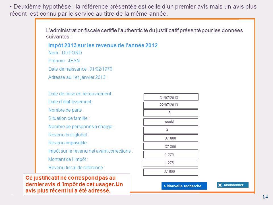 Annexe 2 1 Presentation Du Justificatif D Impot Sur Le Revenu Et Du
