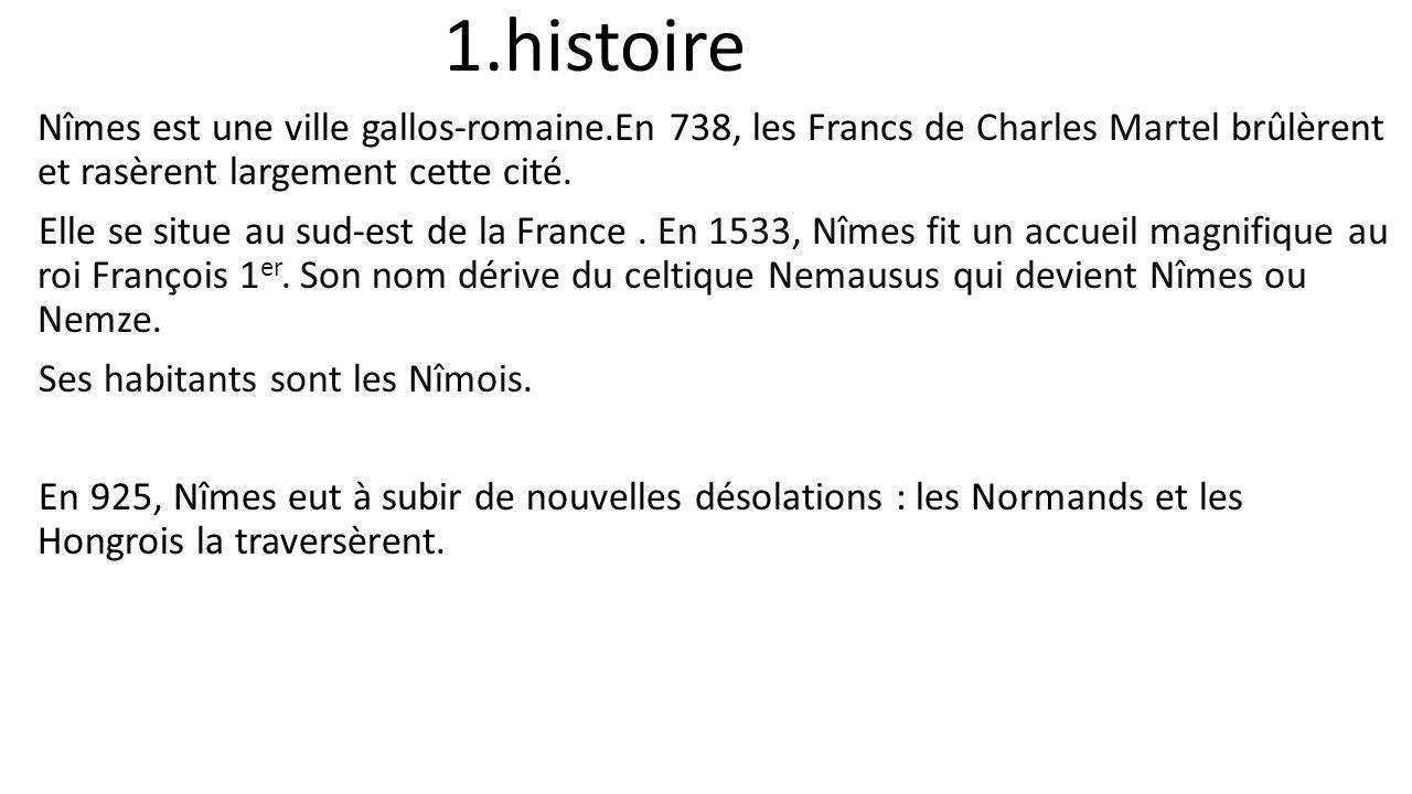 arenes de nimes histoire
