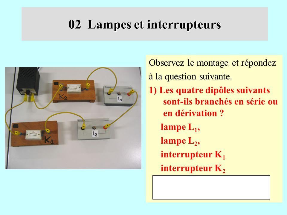 Evaluation Lampes Et Interrupteurs Ppt Telecharger