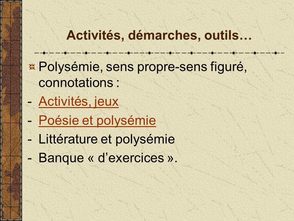 Vocabulaire La Polysemie Ppt Telecharger