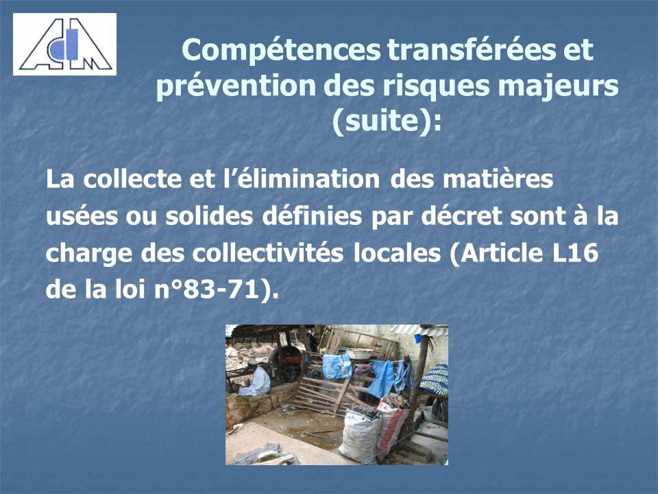 des comp u00e9tences transf u00e9r u00e9es et de la pr u00e9vention des risques majeurs