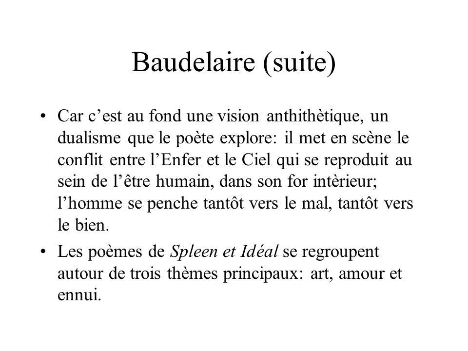 Charles Baudelaire Chez Baudelaire Le Poète Devient L