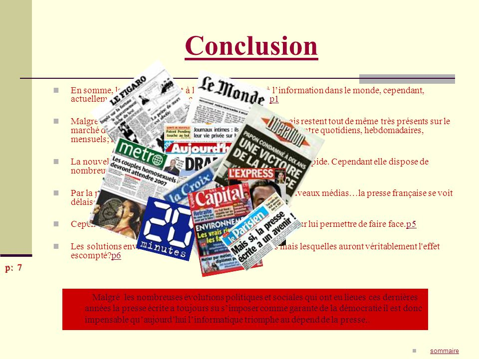 difficultés de la presse