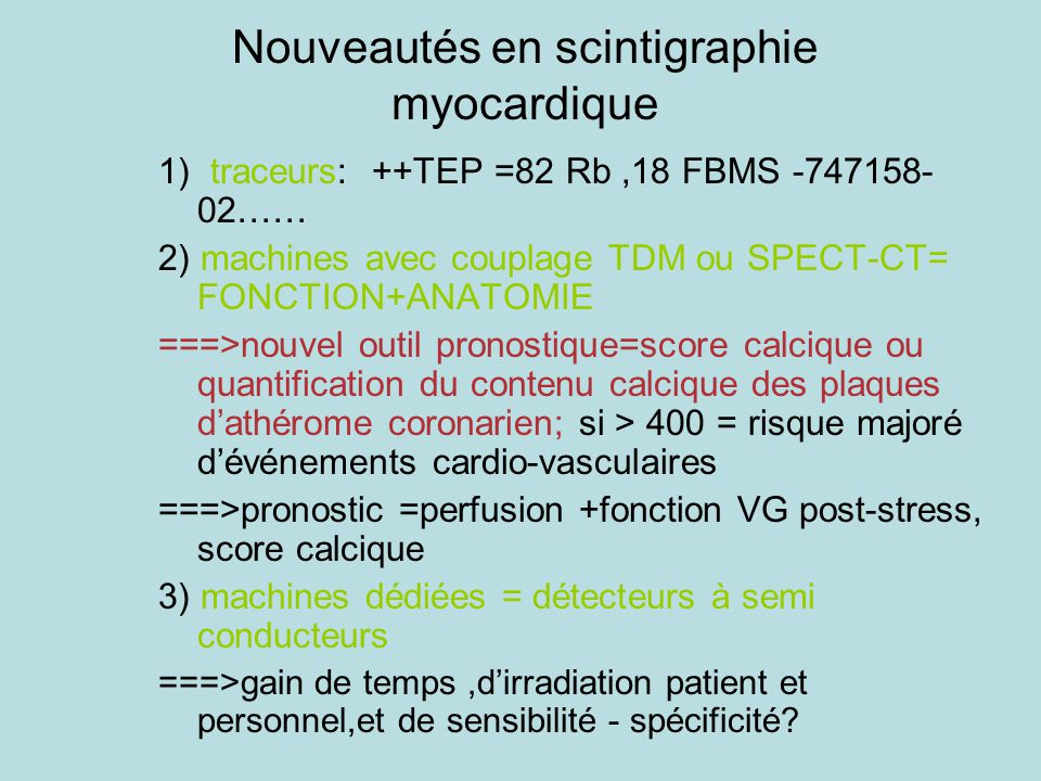La Scintigraphie Myocardique En Ppt Telecharger