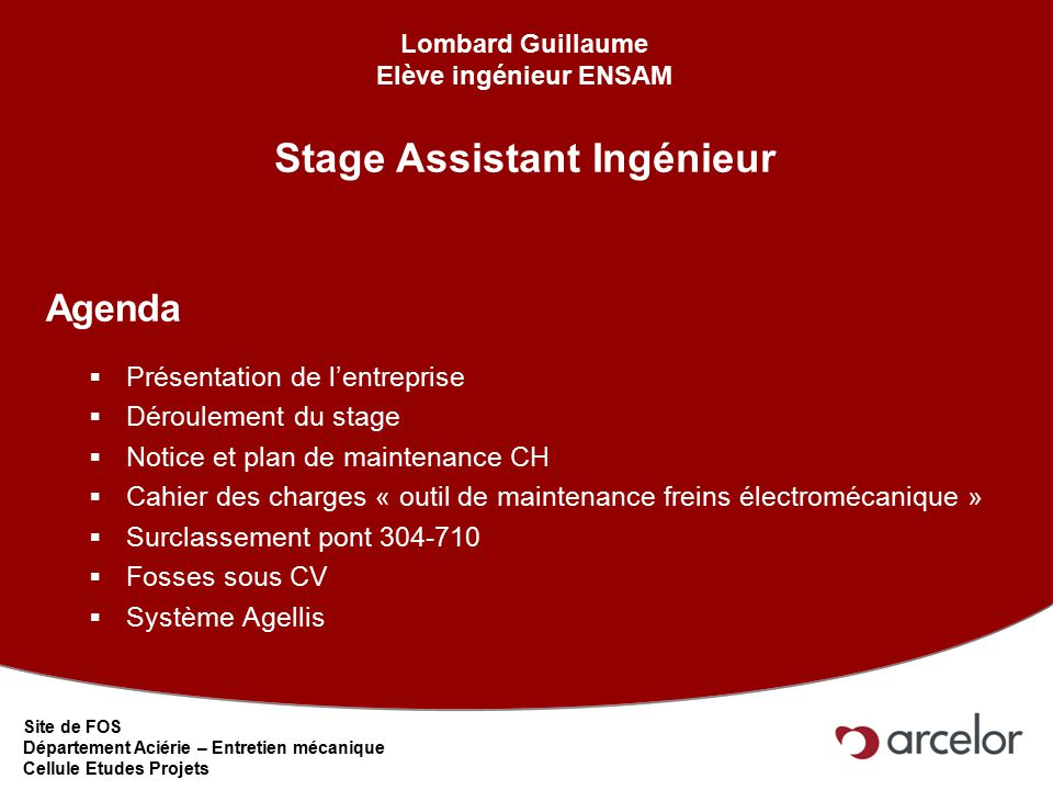 stage assistant ing u00e9nieur