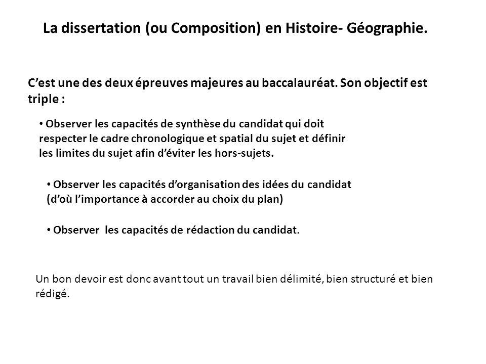 Dissertation sujet histoire