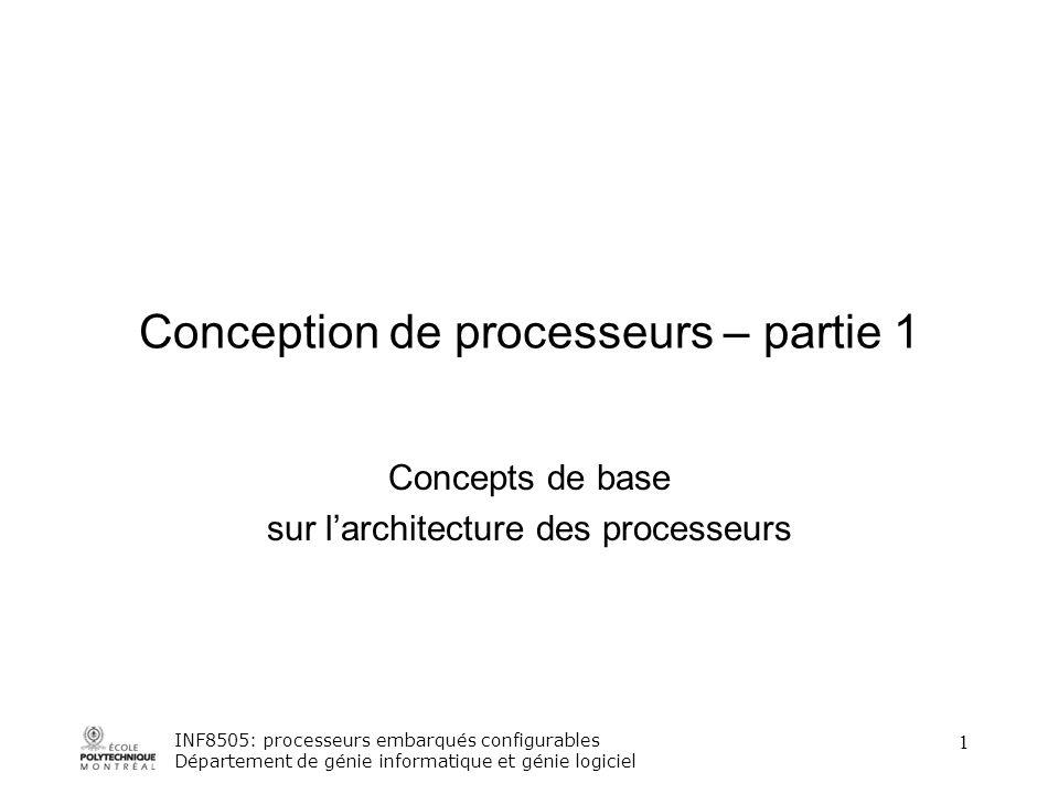 Conception De Processeurs Partie 1