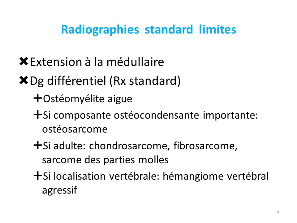 Radiographies standard limites