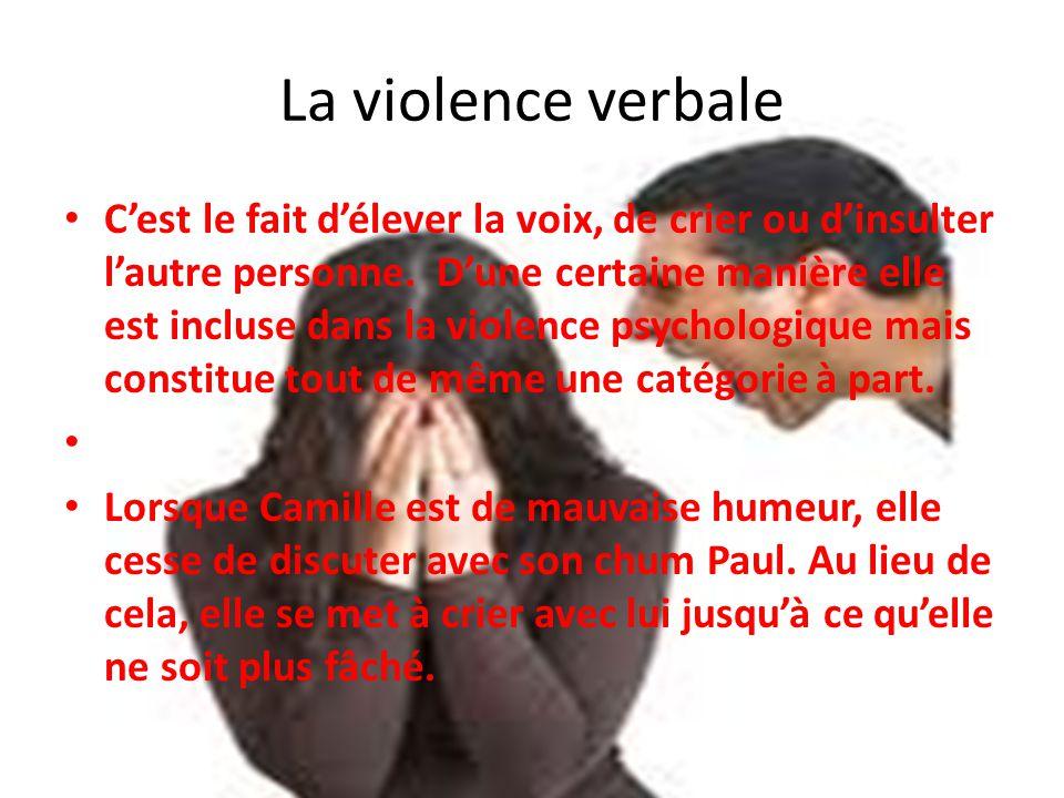 violence verbale définition