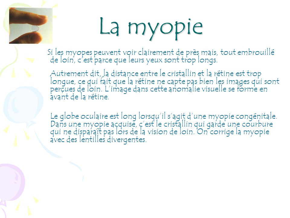 Myopie Verre Divergent Votre Vue La Vue L Oeil Page