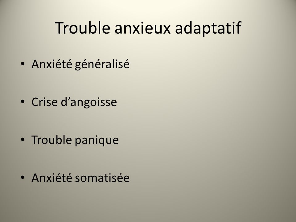 trouble anxieux generalise symptomes