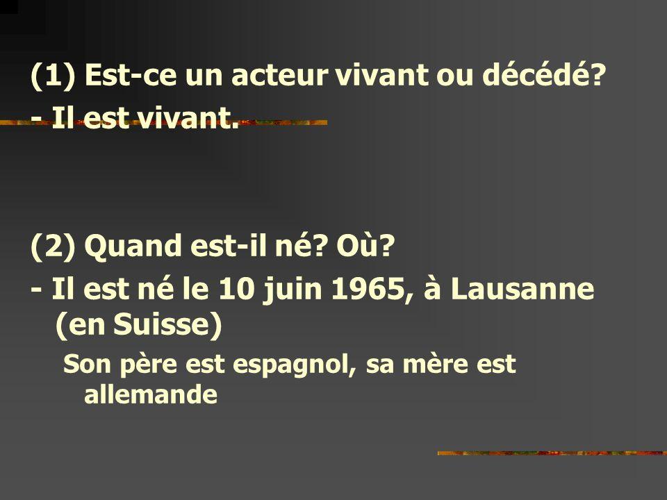 Acteur français. - ppt télécharger