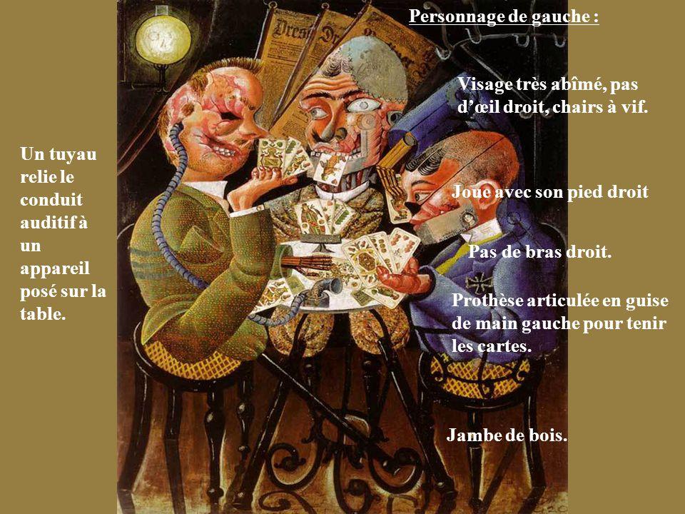 Les Joueurs De Skat Otto Dix 1920 Huile Et Collages Sur