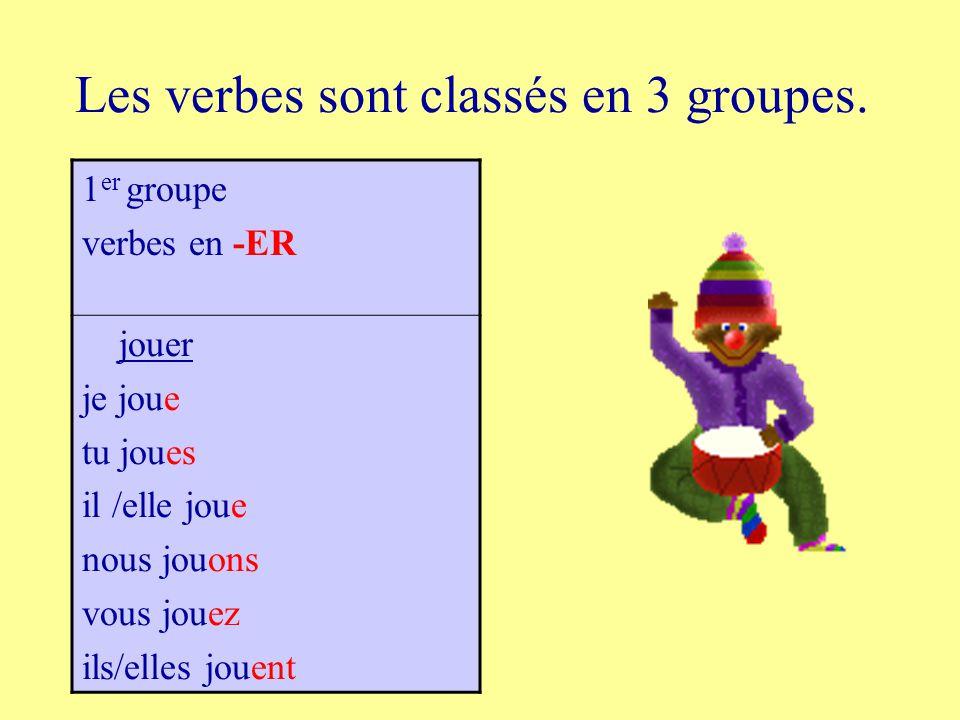 La Conjugaison Des Verbes Francais Ppt Telecharger