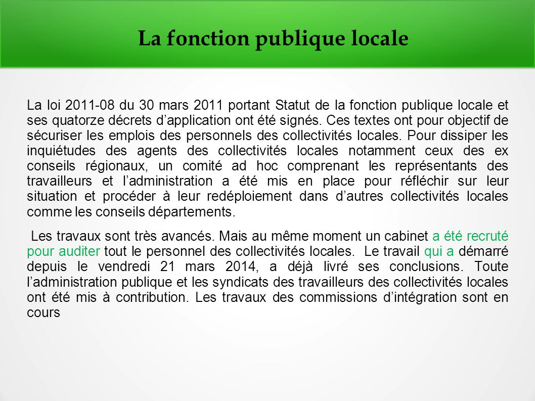 LA DE DÉCENTRALISATION PDF SÉNÉGAL AU ACTE 3 TÉLÉCHARGER