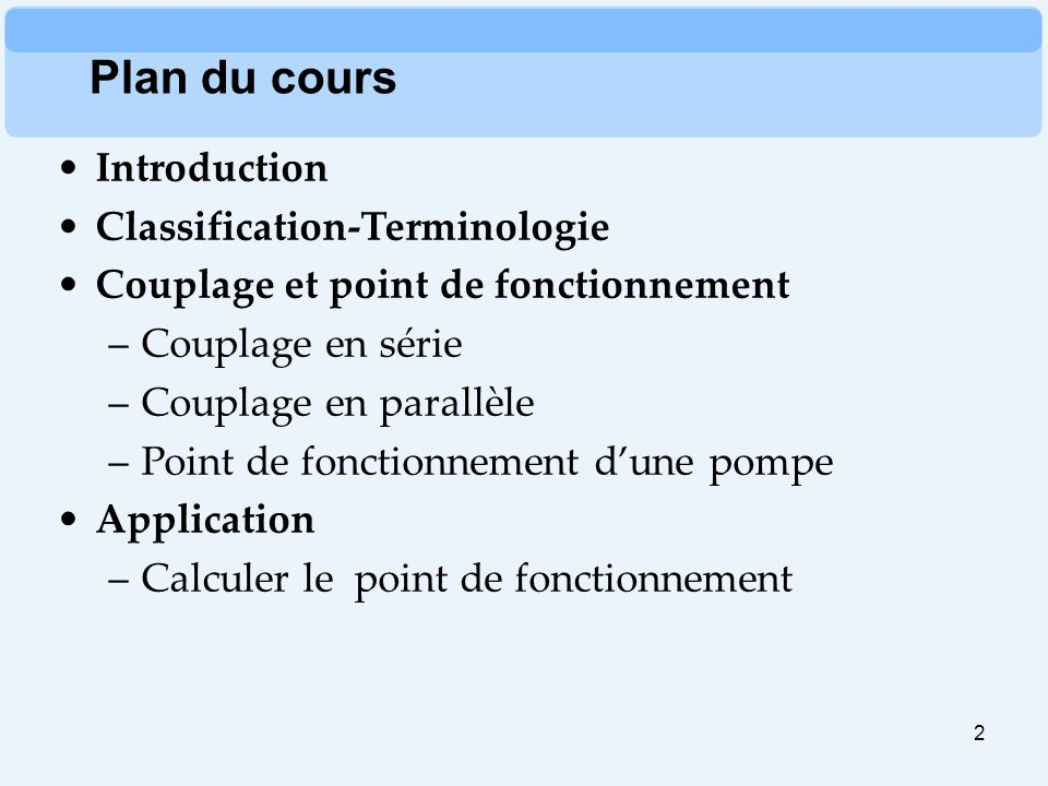 Plan du cours Introduction Classification-Terminologie