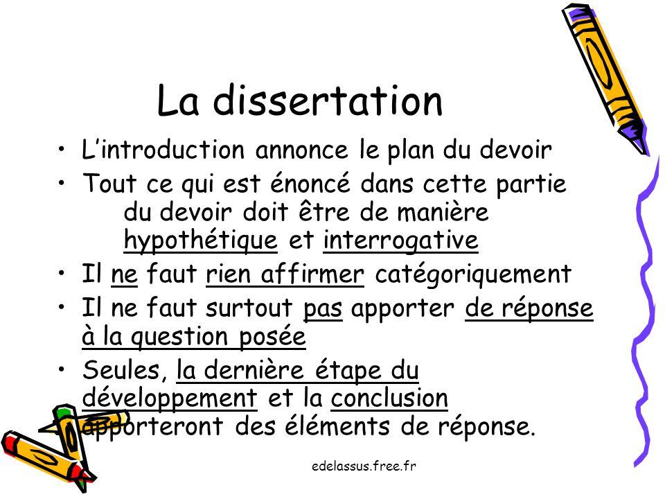 Annonce plan dialectique dissertation