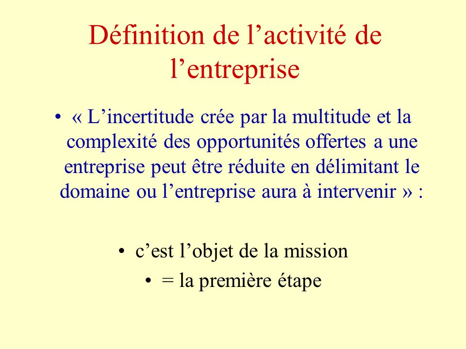 LENTREPRISE DEFINITION PDF