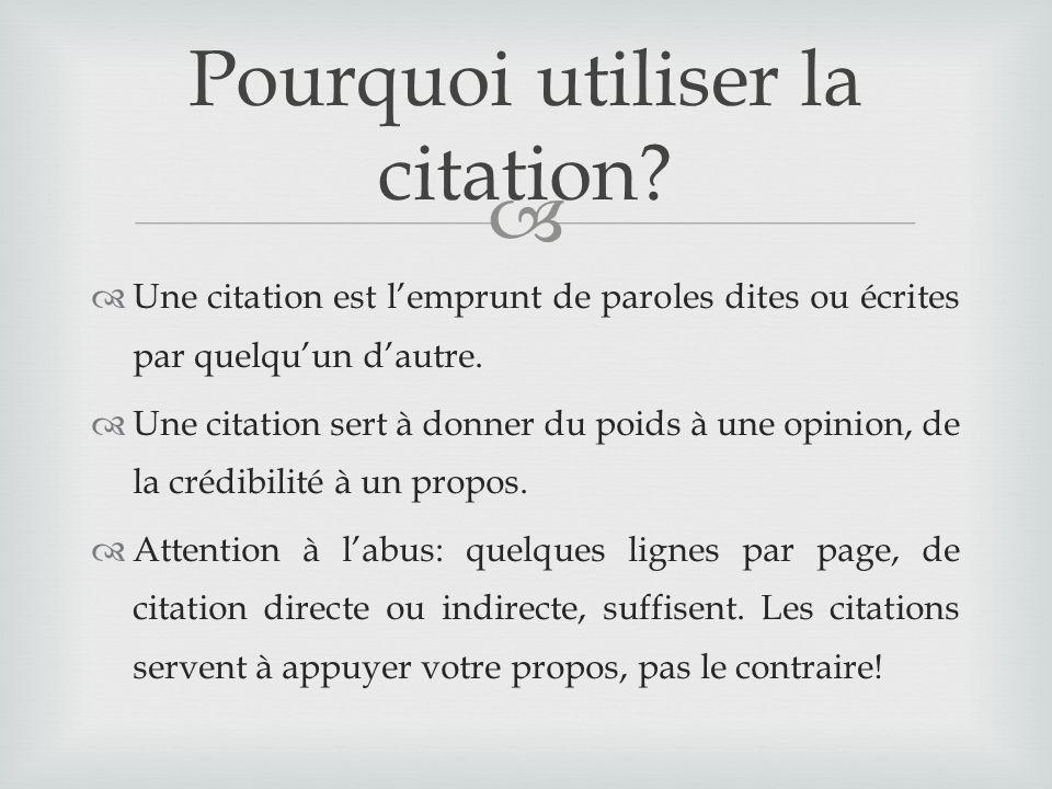 Les sources Insérer des citations dans un texte   ppt télécharger