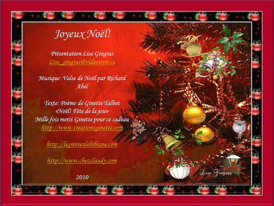 Noël Fête De La Joie
