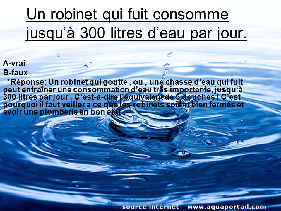 un robinet qui fuit consomme jusqu 300 litres d eau par jour ppt t l charger. Black Bedroom Furniture Sets. Home Design Ideas