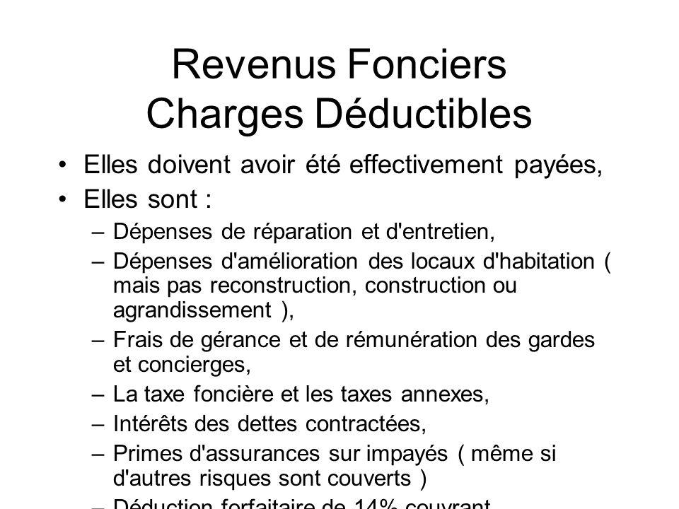 Frais Constitution Sci Deductible Revenus Fonciers
