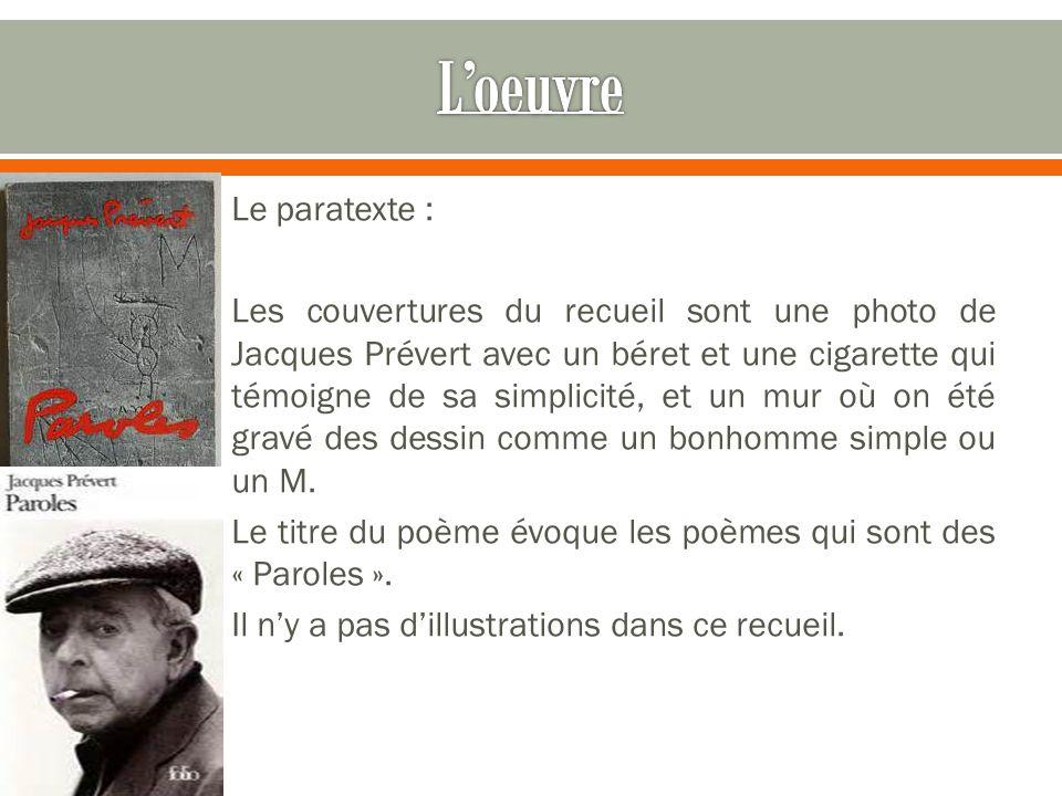 Jacques Prévert Poète Et Scénariste Français Ppt Télécharger