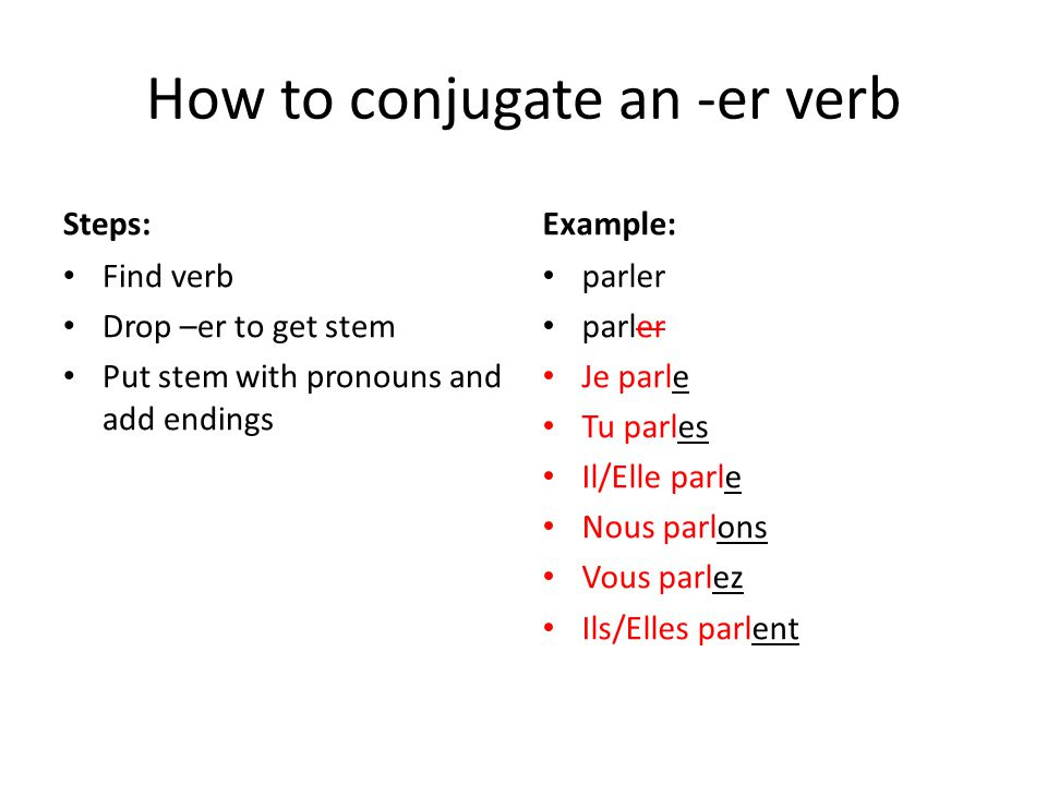 How to conjugate an -er verb