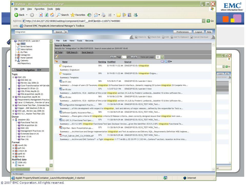 EMC Documentum 6 « Référentiel de Gestion de Contenus et d