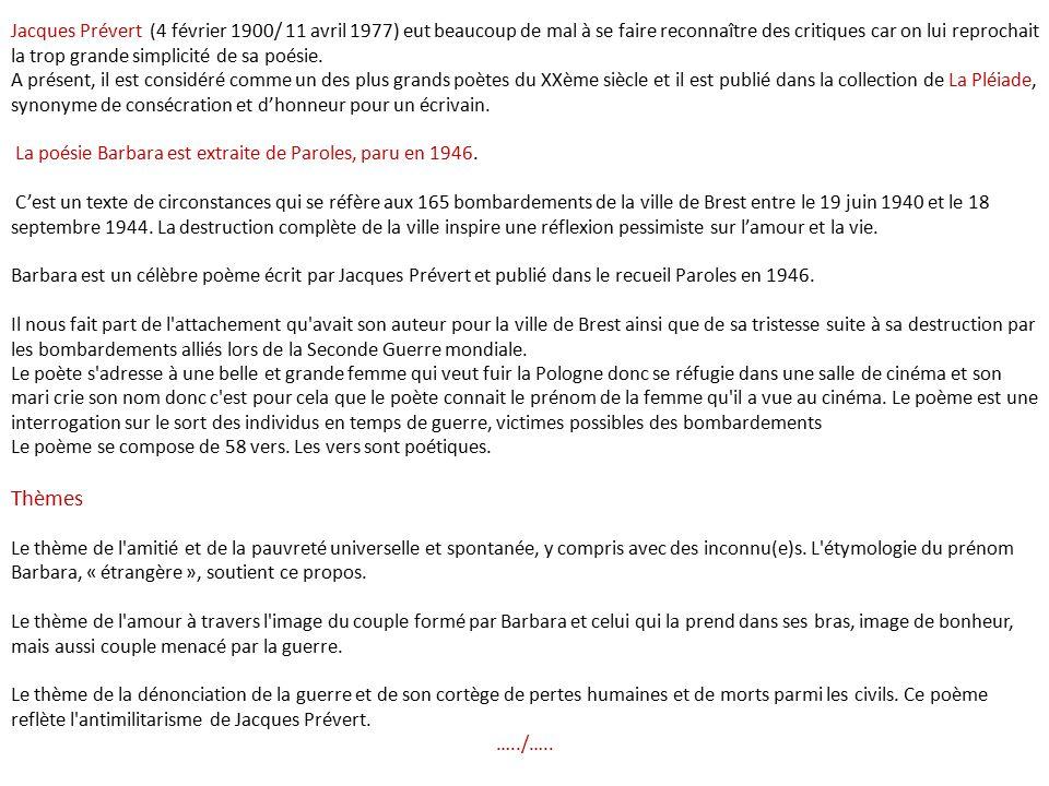 Yves Montand Barbara Par Nanou Et Stan Ppt Video Online