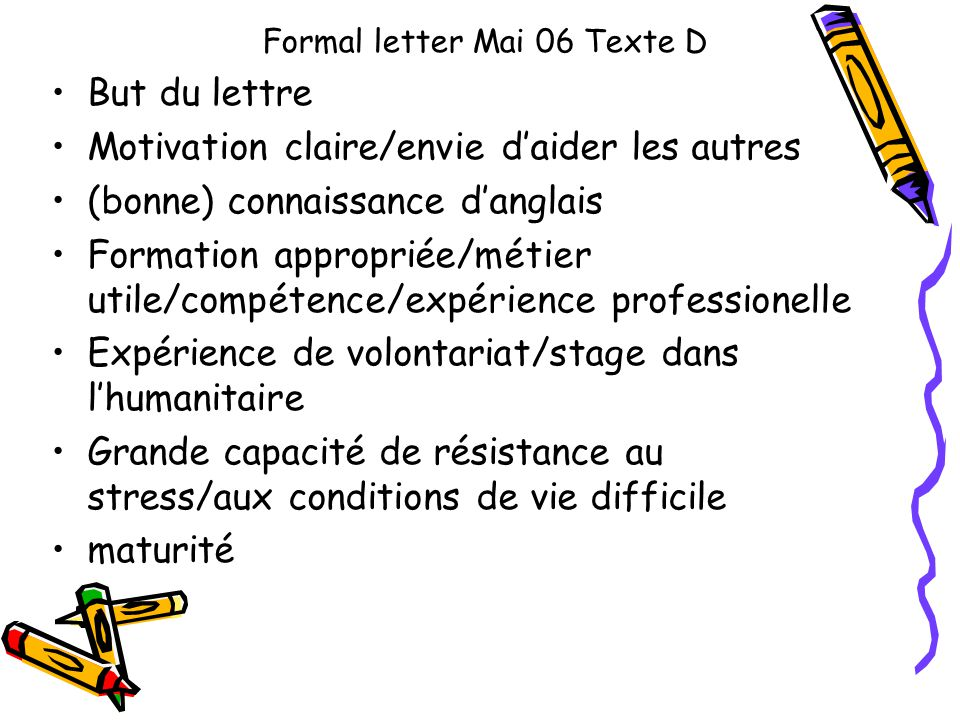 lettre de motivation humanitaire volontariat