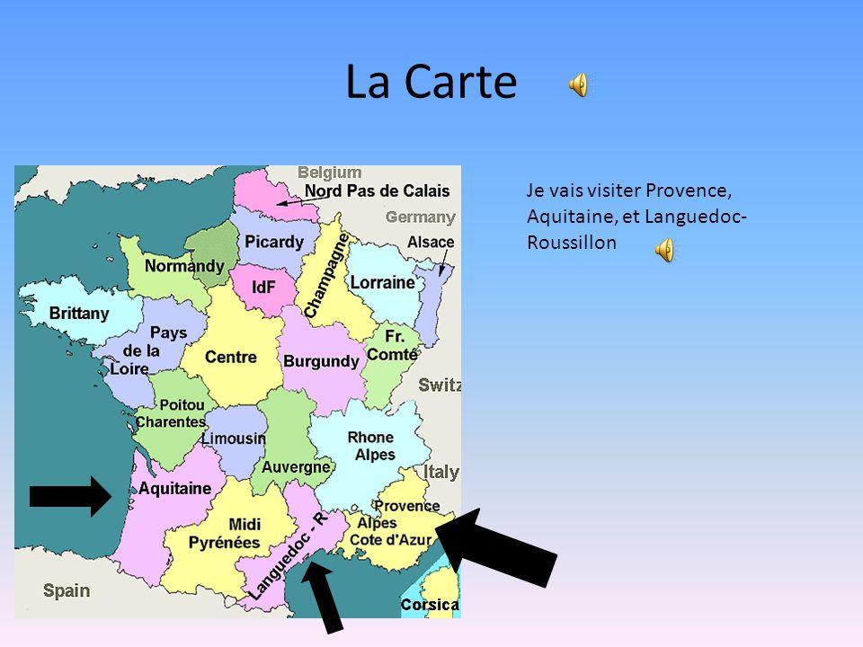 3 La Carte Je Vais Visiter Provence Aquitaine Et Languedoc Roussillon