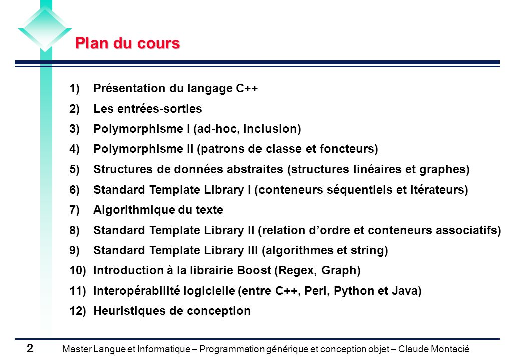 Cours N 1 Presentation Du Langage C Ppt Video Online Telecharger