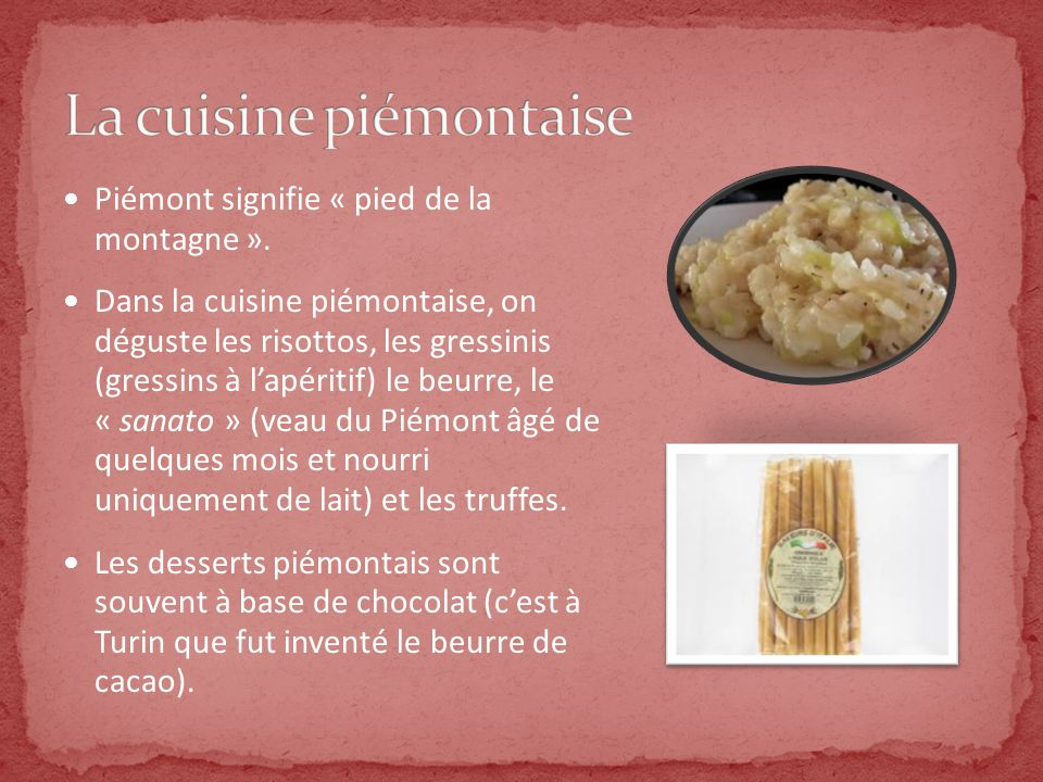 La Gastronomie Italienne Ppt Video Online Telecharger