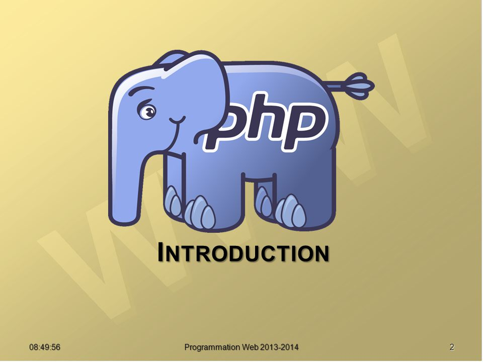 Introduction 07:21:24 Programmation Web