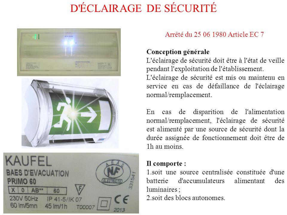 bloc autonome d éclairage de sécurité