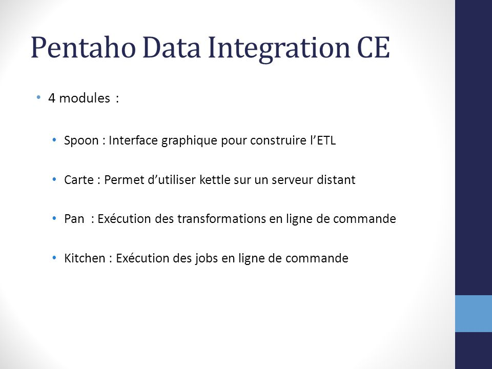ETL - Pentaho Data Integration - ppt télécharger