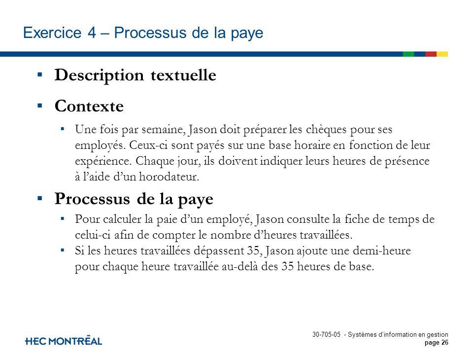 Calcul Salaire Net Quebec >> Exercices et solutions Modélisation des processus - ppt ...