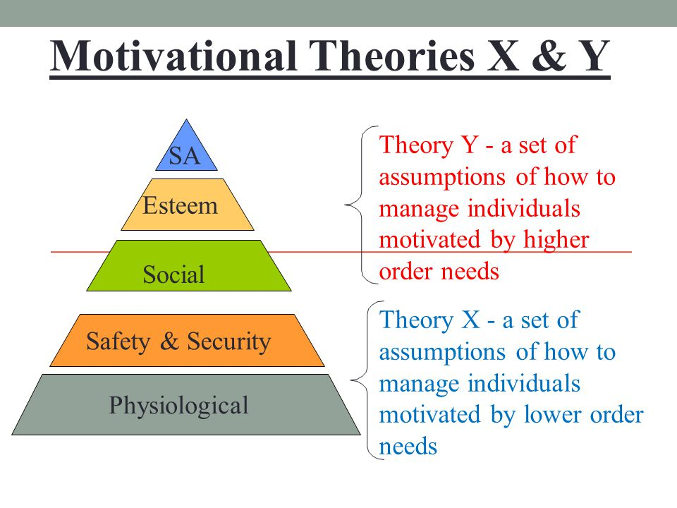 motivational theories x y