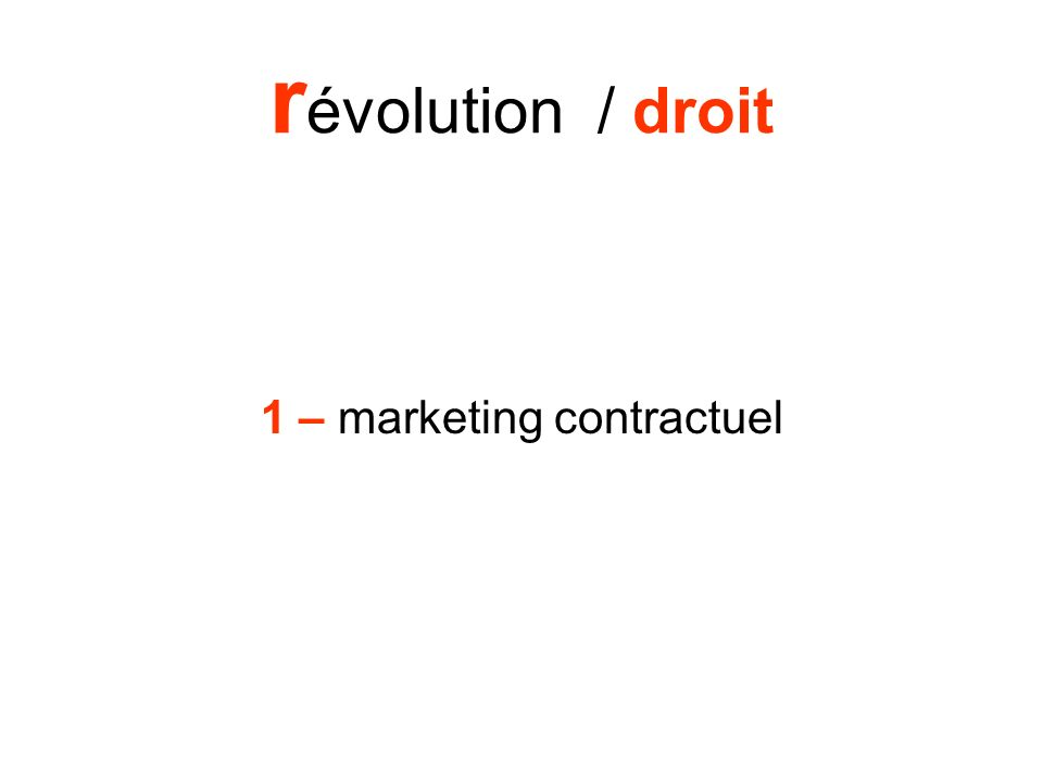 1 – marketing contractuel