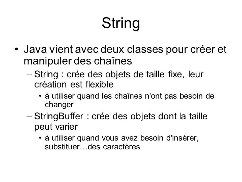 Strings Et Tableaux En Java Ppt Video Online Telecharger