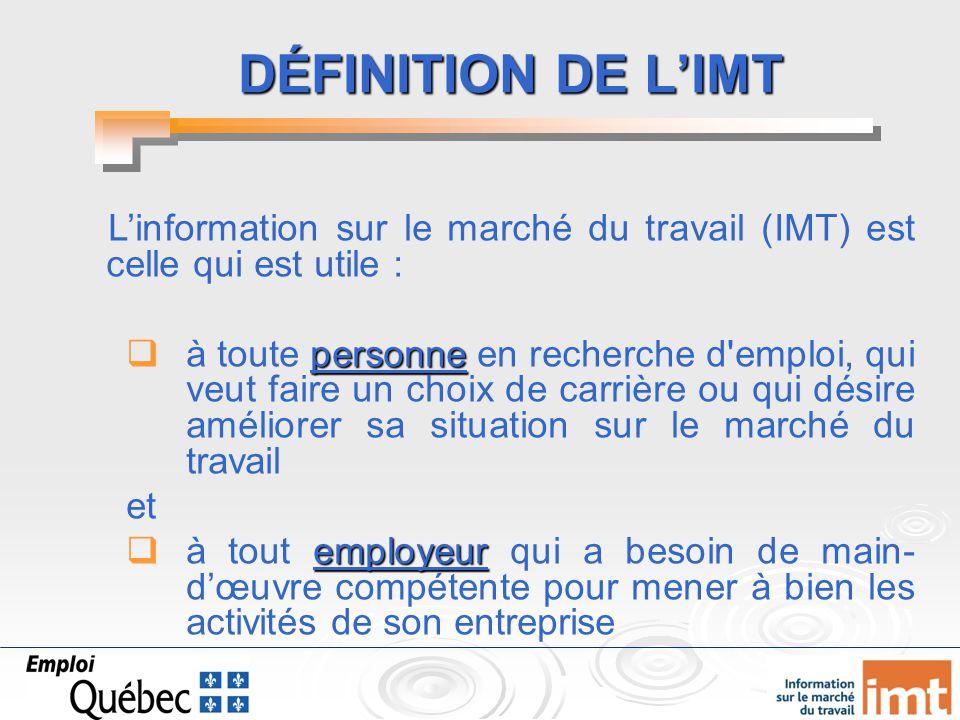 L Information Sur Le Marche Du Travail Au Centre Ppt Video Online
